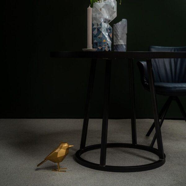 ronde-eettafel-zwart-elephant-Van-Tafel