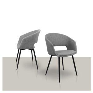 Comfortabele eetkamerstoel grijs Dean van Kick