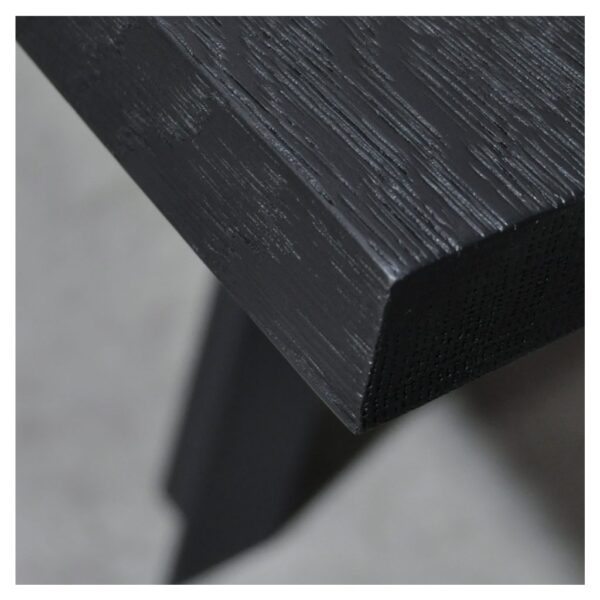 Europees Eiken tafelblad zwart