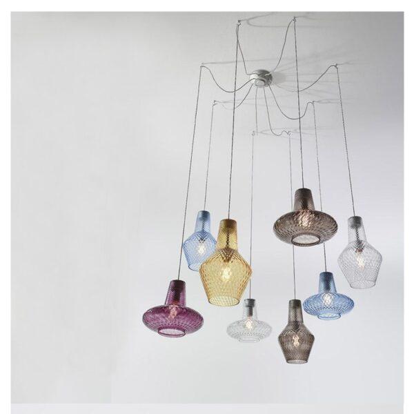 Mondgeblazen-glaslampen-Zafferano-Romeo-Giulietta-verschillende-kleuren