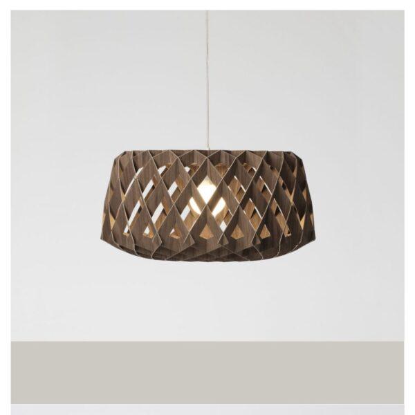 Transparante-moderne-hanglamp-MDF-Pilke-60-Showroom Finland-bruin