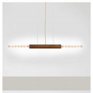 houten vintage langwerpige hanglamp Van Tafel