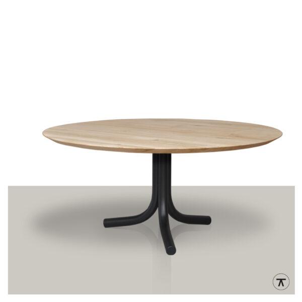 ronde-eettafel-eikenhout-middenpoot-4-metalen-buizen